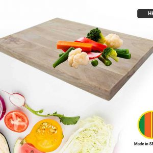 Chopping Board Treated Rubber Wood (L)