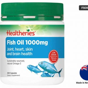 HEALTHERIES Fish Oil 1000mg - 200 Capsules