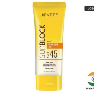 JOVEES SUN BLOCK SPF-45 Cream (INDIA) 50g