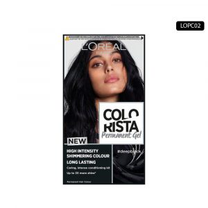 LOREAL Colo Rista Deep Black Permanent Gel Hair Dye [Belgium]