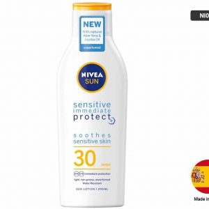 Nivea Sun Sensitive Immediate Protection Lotion SPF30 200ml (SPAIN)