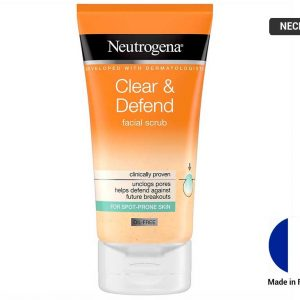NEUTROGENA Clear and Defend Facial Scrub 150ml (FRANCE)