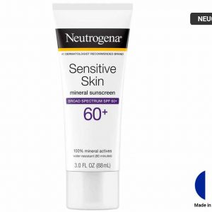 NEUTROGENA Sensitive Skin Mineral Sunscreen SPF 60+ 88ml (FRANCE)