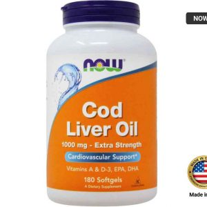 NOW Cod Liver Oil 1000mg - 180 Softgels