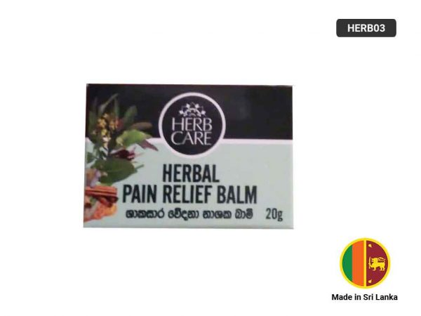 HERB CARE Herbal Pain Relief Balm 20g